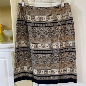 Wrap around printed skirt